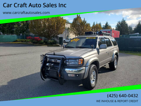 2001 Toyota 4Runner for sale at Car Craft Auto Sales Inc in Lynnwood WA
