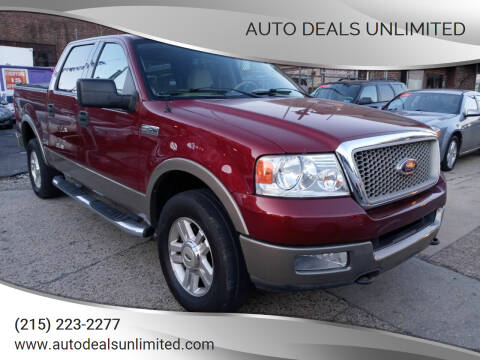 2004 Ford F-150 for sale at AUTO DEALS UNLIMITED in Philadelphia PA