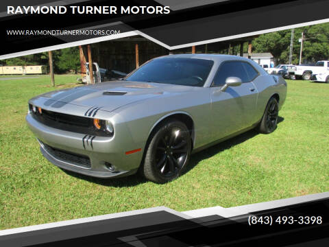 2016 Dodge Challenger for sale at RAYMOND TURNER MOTORS in Pamplico SC