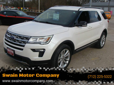 2018 Ford Explorer for sale at Swain Motor Company in Cherokee IA
