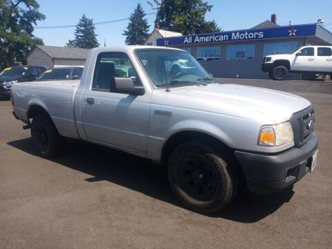 2007 Ford Ranger for sale at All American Motors in Tacoma WA