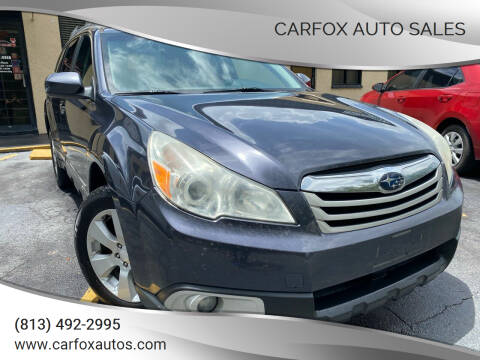 2010 Subaru Outback for sale at Carfox Auto Sales in Tampa FL