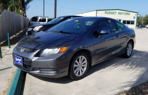 2012 Honda Civic for sale at Budget Motors in Aransas Pass TX