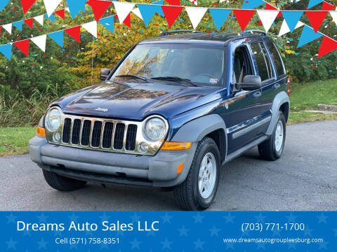2005 Jeep Liberty for sale at Dreams Auto Sales LLC in Leesburg VA