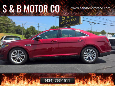 2015 Ford Taurus for sale at S & B MOTOR CO in Danville VA