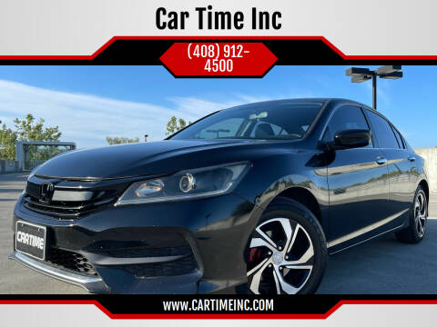 2016 Honda Accord for sale at Car Time Inc in San Jose CA