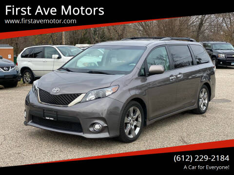 2013 Toyota Sienna for sale at First Ave Motors in Shakopee MN
