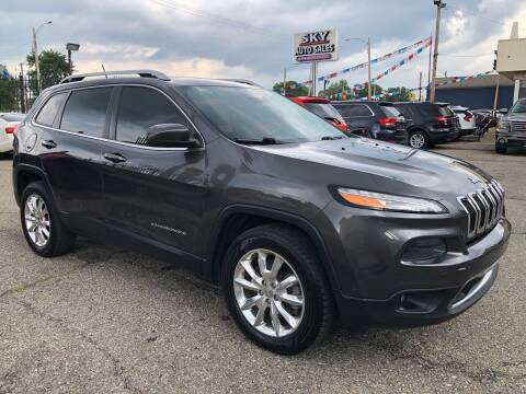 2014 Jeep Cherokee for sale at SKY AUTO SALES in Detroit MI