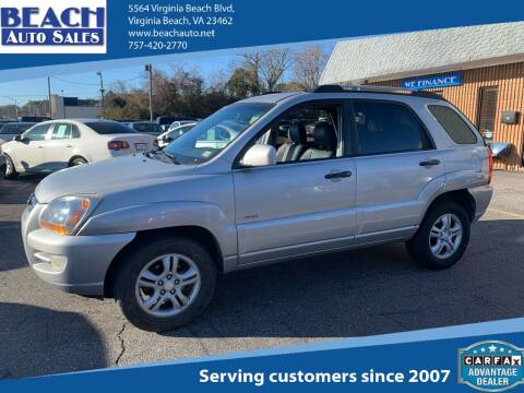2006 Kia Sportage for sale at Beach Auto Sales in Virginia Beach VA