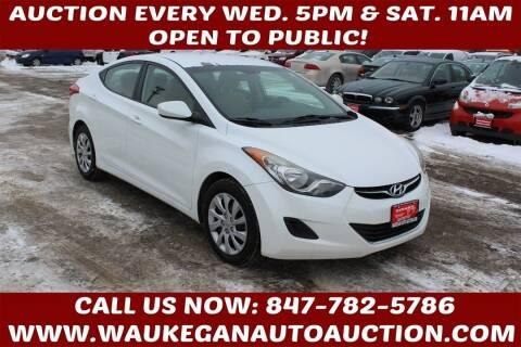 2012 Hyundai Elantra for sale at Waukegan Auto Auction in Waukegan IL