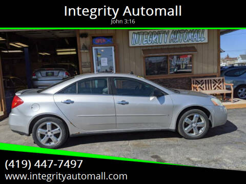 2008 Pontiac G6 for sale at Integrity Automall in Tiffin OH