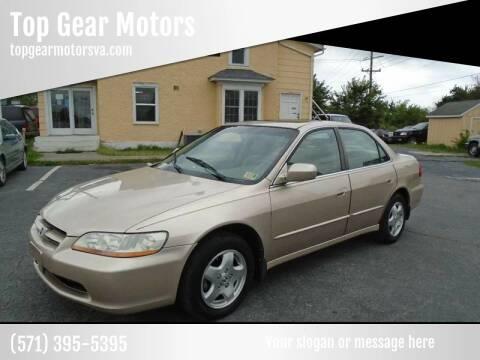 2000 Honda Accord for sale at Top Gear Motors in Winchester VA