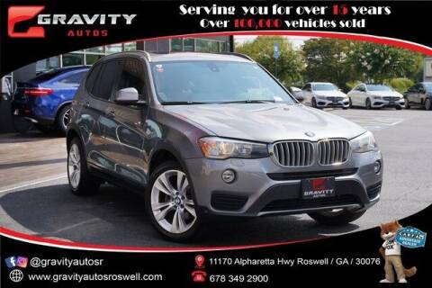 2016 BMW X3 for sale at Gravity Autos Roswell in Roswell GA