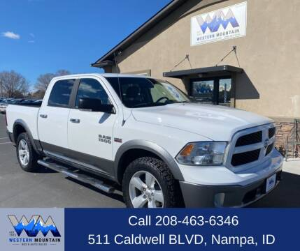 2013 RAM Ram Pickup 1500 for sale at Western Mountain Bus & Auto Sales in Nampa ID