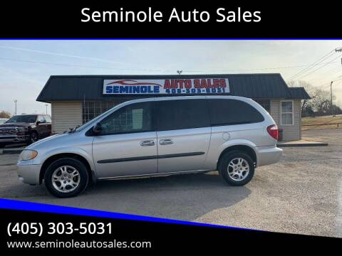 2003 Dodge Grand Caravan for sale at Seminole Auto Sales in Seminole OK
