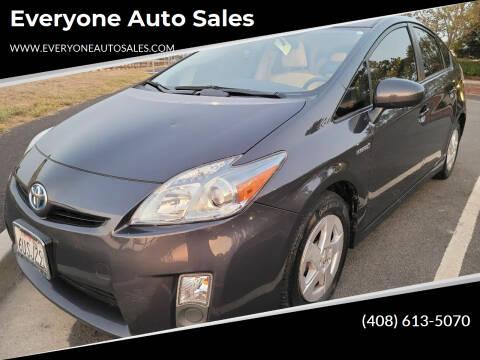 2011 Toyota Prius for sale at Everyone Auto Sales in Santa Clara CA