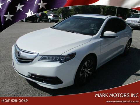 2015 Acura TLX for sale at Mark Motors Inc in Gray KY