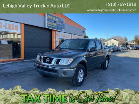 2011 Nissan Frontier for sale at Lehigh Valley Truck n Auto LLC. in Schnecksville PA