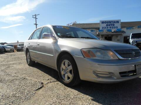 2002 Toyota Avalon for sale at Mountain Auto in Jackson CA