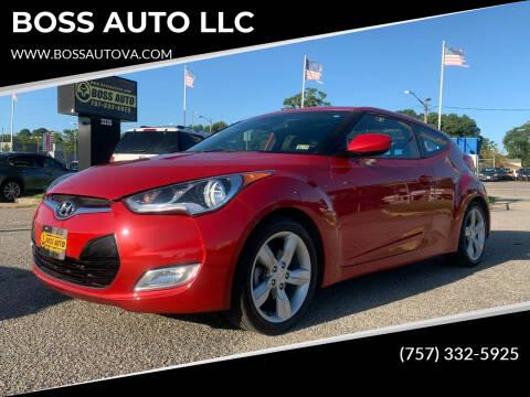 2014 Hyundai Veloster for sale at BOSS AUTO LLC in Norfolk VA