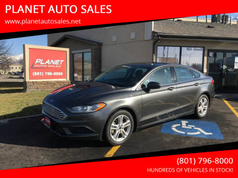 2018 Ford Fusion for sale at PLANET AUTO SALES in Lindon UT