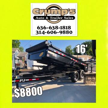 2021 Pj Trailers Loaded Dump Trailer for sale at CRUMP'S AUTO & TRAILER SALES in Crystal City MO