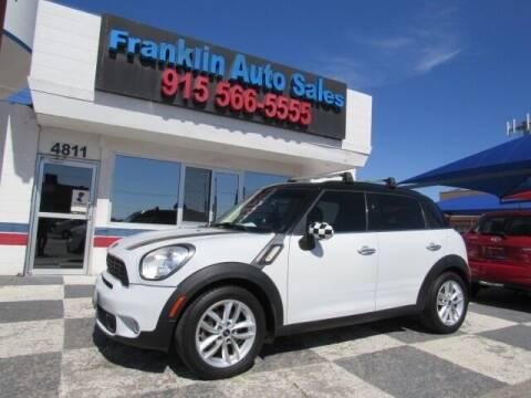 2014 MINI Countryman for sale at Franklin Auto Sales in El Paso TX