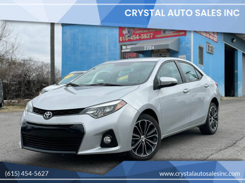 2016 Toyota Corolla for sale at Crystal Auto Sales Inc in Nashville TN