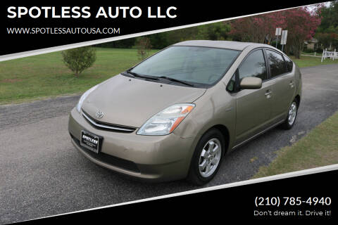 2007 Toyota Prius for sale at SPOTLESS AUTO LLC in San Antonio TX