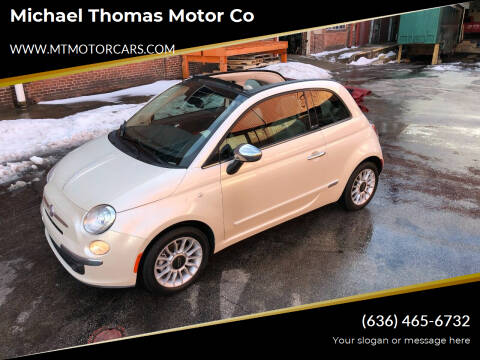 2012 FIAT 500c for sale at Michael Thomas Motor Co in Saint Charles MO