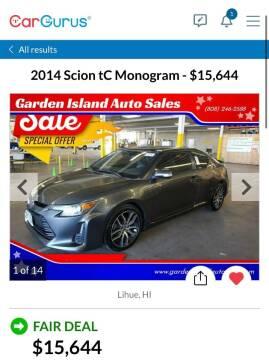 2014 Scion tC for sale at Garden Island Auto Sales in Lihue HI