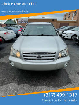2003 Toyota Highlander for sale at Choice One Auto LLC in Beech Grove IN