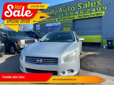 2011 Nissan Maxima for sale at Friendly Auto Sales in Detroit MI