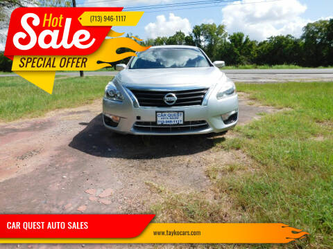 2015 Nissan Altima for sale at CAR QUEST AUTO SALES in Houston TX