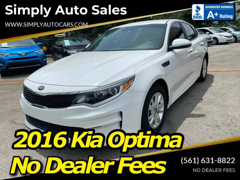 2016 Kia Optima for sale at Simply Auto Sales in Palm Beach Gardens FL