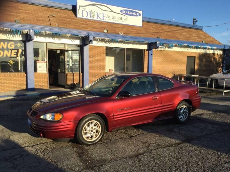 1999 Pontiac Grand Am for sale at Duke Automotive Group in Cincinnati OH