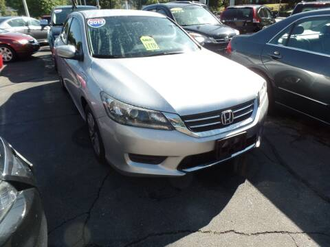 2013 Honda Accord for sale at CAR CORNER RETAIL SALES in Manchester CT