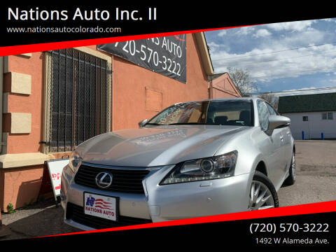 2013 Lexus GS 350 for sale at Nations Auto Inc. II in Denver CO
