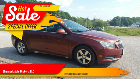 2012 Chevrolet Cruze for sale at Shamrock Auto Brokers, LLC in Belmont NH