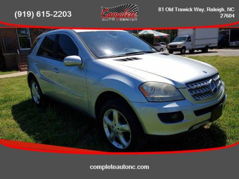 2007 Mercedes-Benz M-Class for sale at Complete Auto Center , Inc in Raleigh NC