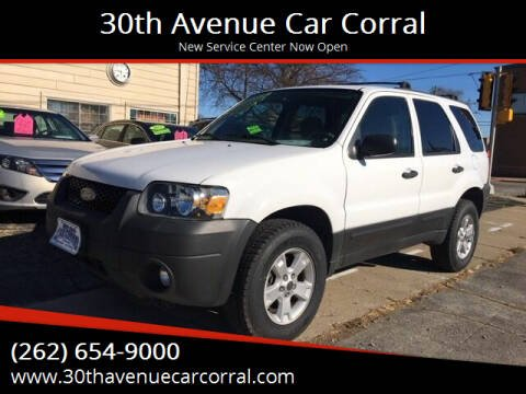 2007 Ford Escape for sale at 30th Avenue Car Corral in Kenosha WI