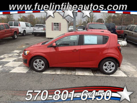 2013 Chevrolet Sonic for sale at FUELIN FINE AUTO SALES INC in Saylorsburg PA