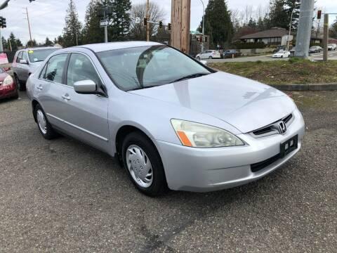 2004 Honda Accord for sale at KARMA AUTO SALES in Federal Way WA