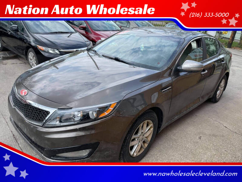 2013 Kia Optima for sale at Nation Auto Wholesale in Cleveland OH