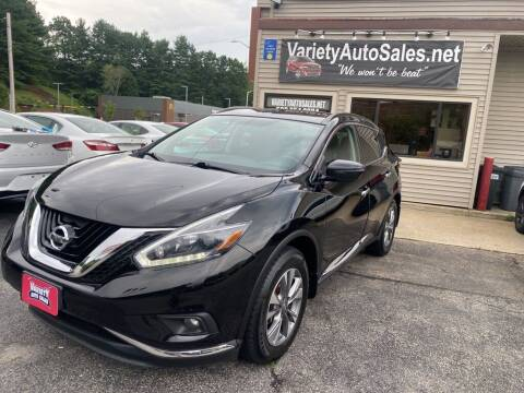 2018 Nissan Murano for sale at Variety Auto Sales in Worcester MA