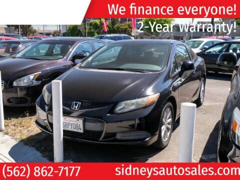 2012 Honda Civic for sale at Sidney Auto Sales in Downey CA