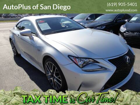 2016 Lexus RC 350 for sale at AutoPlus of San Diego in Spring Valley CA