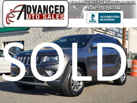2014 Jeep Grand Cherokee for sale at Advanced Auto Sales in Tewksbury MA