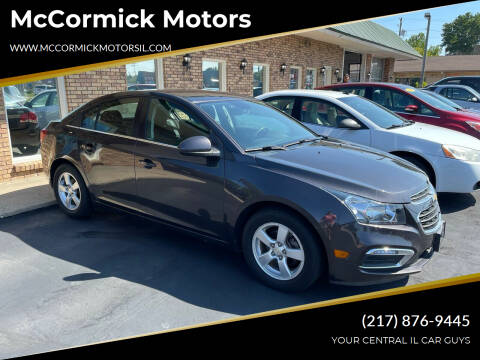 2016 Chevrolet Cruze Limited for sale at McCormick Motors in Decatur IL