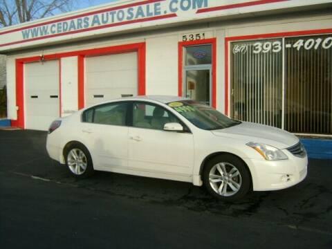 2012 Nissan Altima for sale at Cedar Auto Sales in Lansing MI